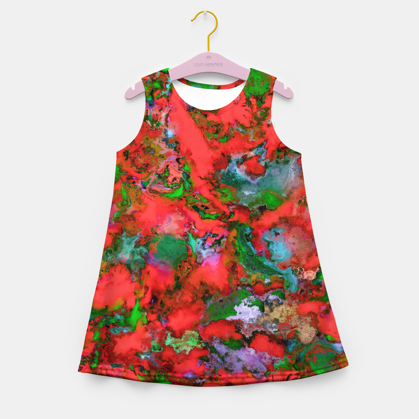 Image of The edge of the red lake Girl's summer dress - Live Heroes