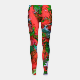 The edge of the red lake Girl's leggings thumbnail image