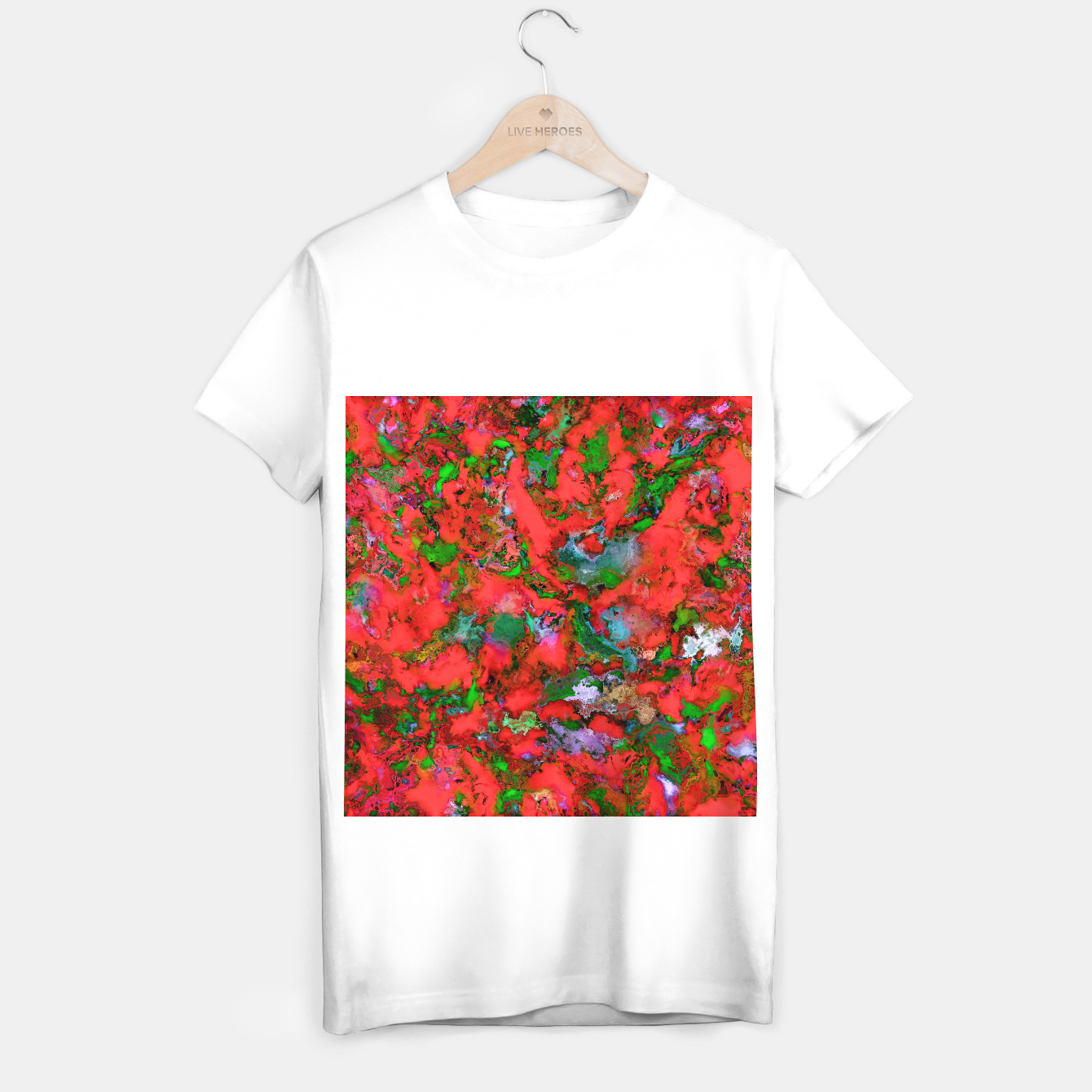 Image of The edge of the red lake T-shirt regular - Live Heroes