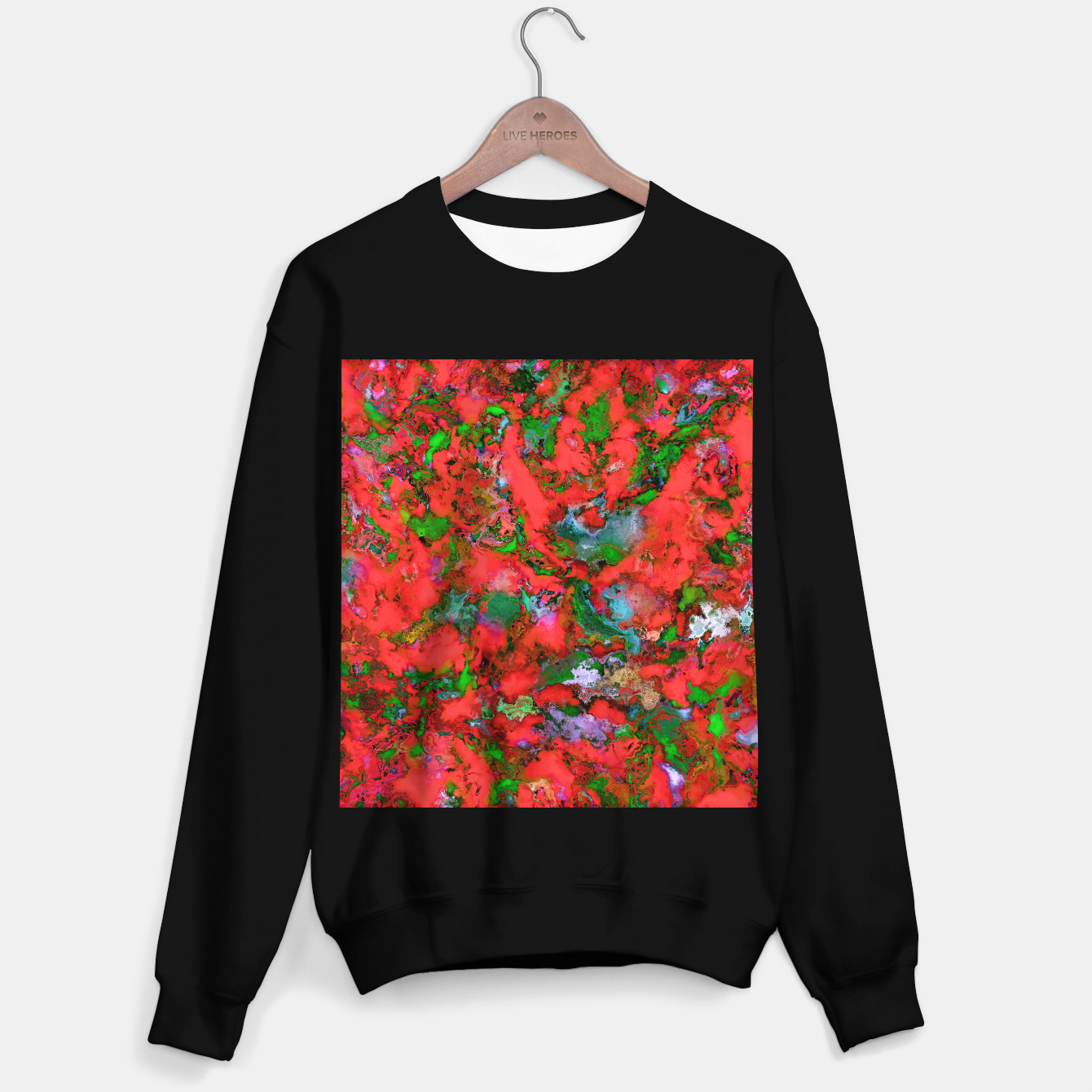 Image of The edge of the red lake Sweater regular - Live Heroes