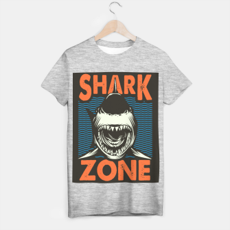 Miniatur Beware !!!! Shark Zone  T-shirt regular, Live Heroes