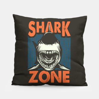 Miniatur Beware !!!! Shark Zone  Pillow, Live Heroes