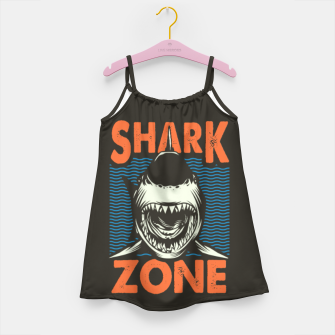 Miniaturka Beware !!!! Shark Zone  Girl's dress, Live Heroes