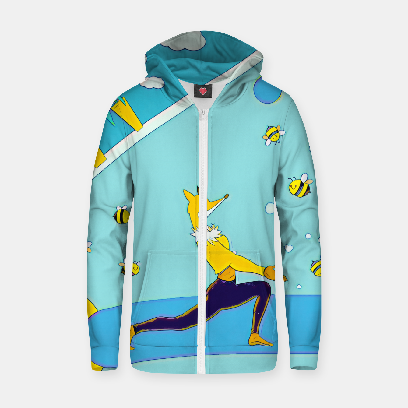 Image of Yoga Zip up hoodie - Live Heroes