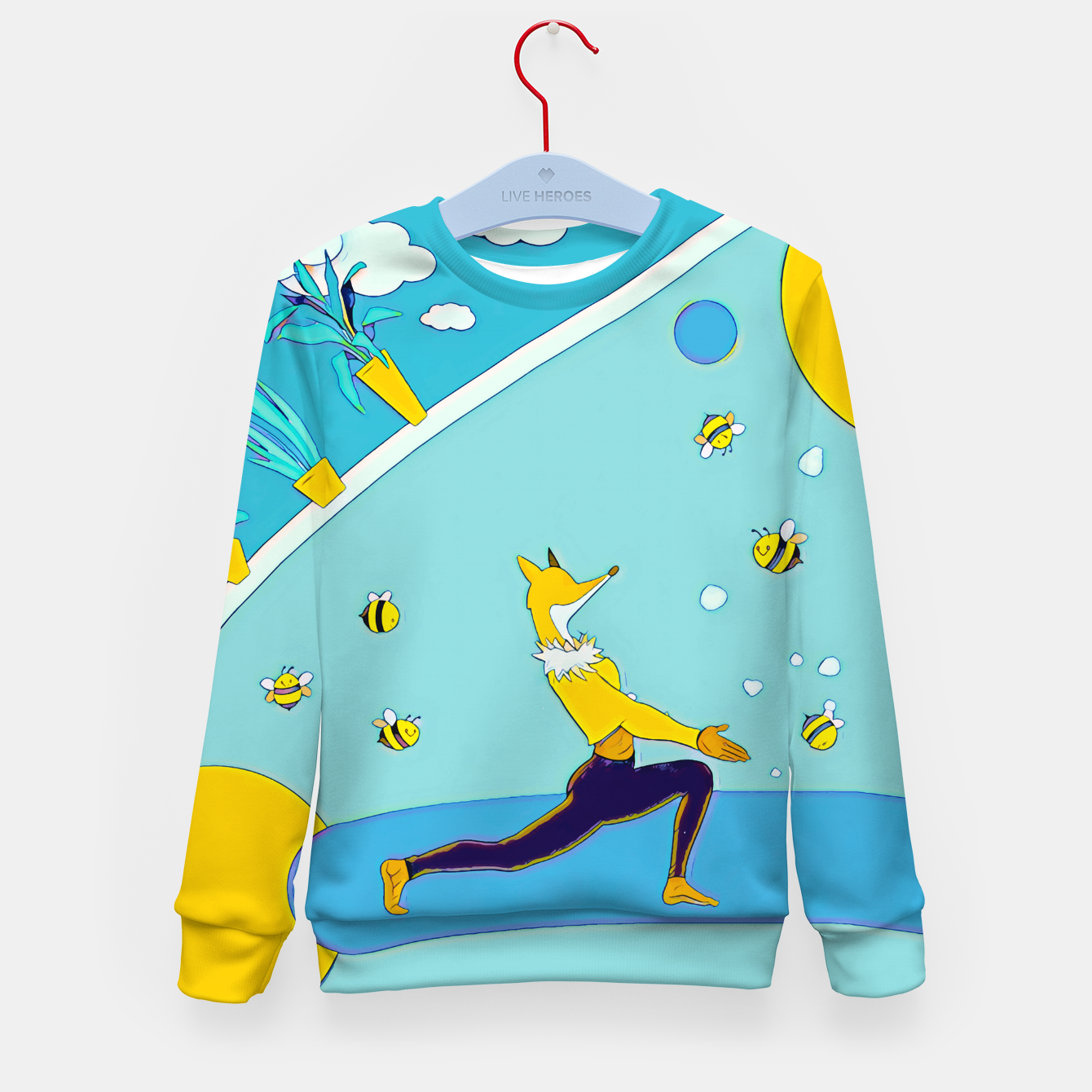 Image of Yoga Kid's sweater - Live Heroes