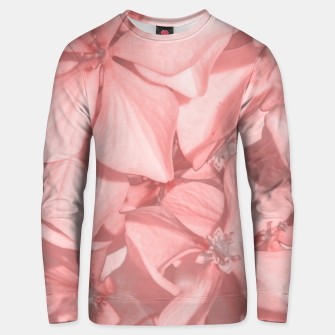 Thumbnail image of Coral Colored Hortensias Floral Photo Unisex sweater, Live Heroes