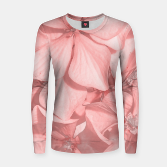 Miniatur Coral Colored Hortensias Floral Photo Women sweater, Live Heroes