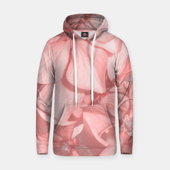 Miniatur Coral Colored Hortensias Floral Photo Hoodie, Live Heroes