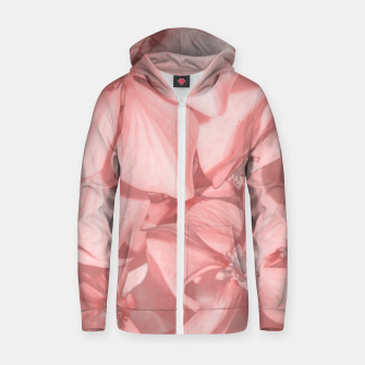 Thumbnail image of Coral Colored Hortensias Floral Photo Zip up hoodie, Live Heroes