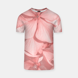 Thumbnail image of Coral Colored Hortensias Floral Photo T-shirt, Live Heroes