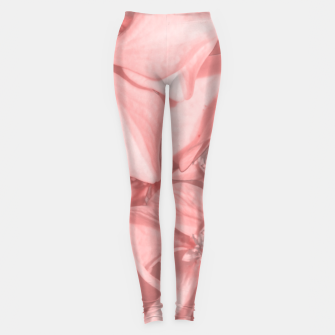 Thumbnail image of Coral Colored Hortensias Floral Photo Leggings, Live Heroes
