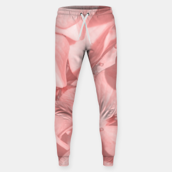 Miniaturka Coral Colored Hortensias Floral Photo Sweatpants, Live Heroes
