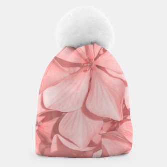 Thumbnail image of Coral Colored Hortensias Floral Photo Beanie, Live Heroes