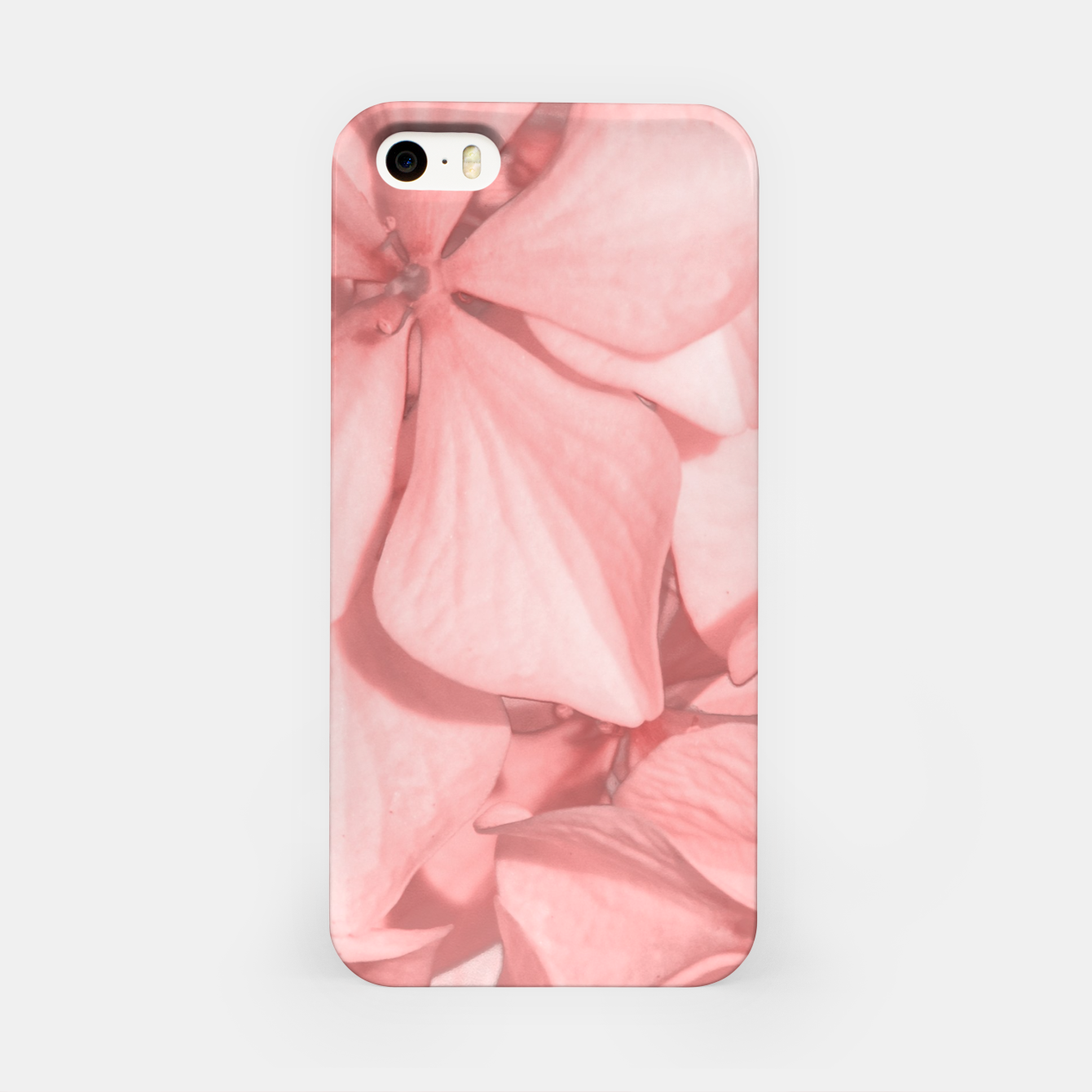 Image of Coral Colored Hortensias Floral Photo iPhone Case - Live Heroes