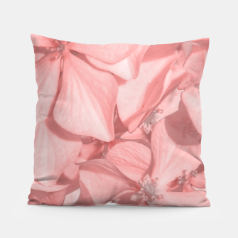 Imagen en miniatura de Coral Colored Hortensias Floral Photo Pillow, Live Heroes