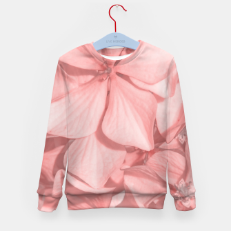 Thumbnail image of Coral Colored Hortensias Floral Photo Kid's sweater, Live Heroes