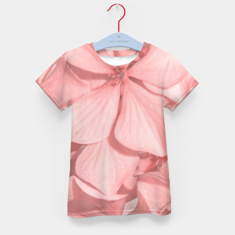 Thumbnail image of Coral Colored Hortensias Floral Photo Kid's t-shirt, Live Heroes