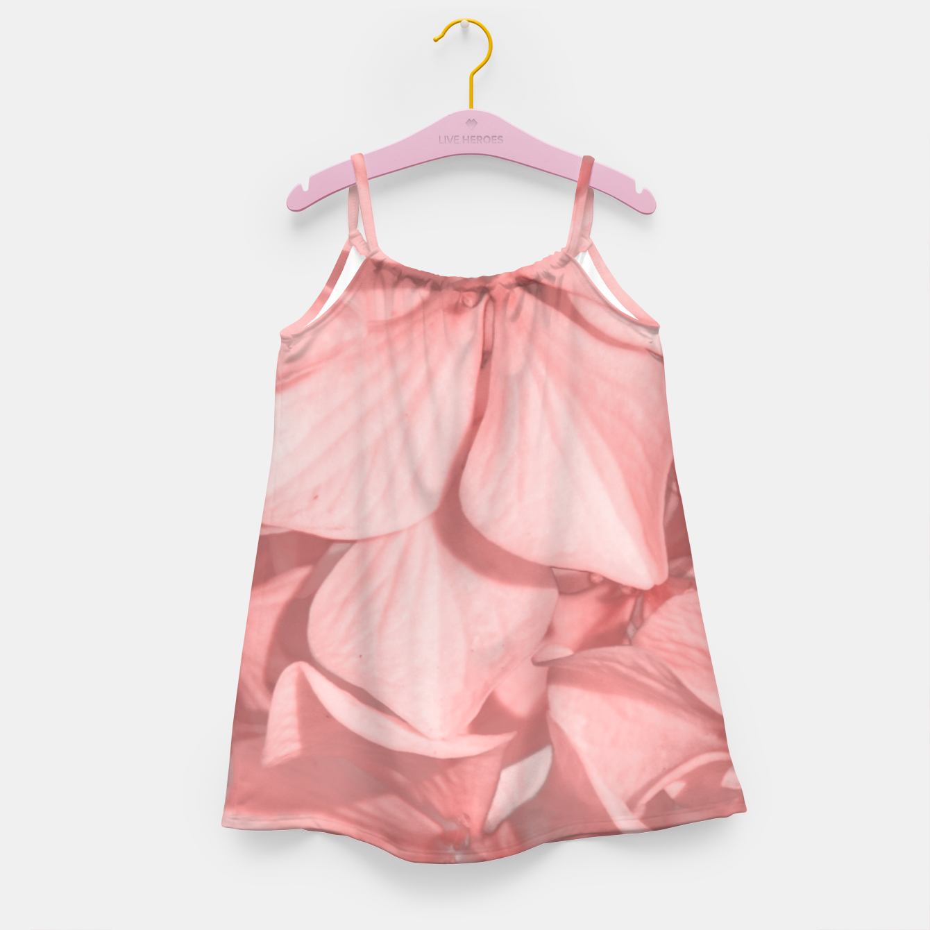 Zdjęcie Coral Colored Hortensias Floral Photo Girl's dress - Live Heroes