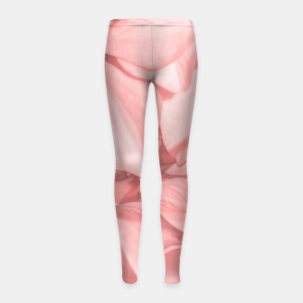 Thumbnail image of Coral Colored Hortensias Floral Photo Girl's leggings, Live Heroes