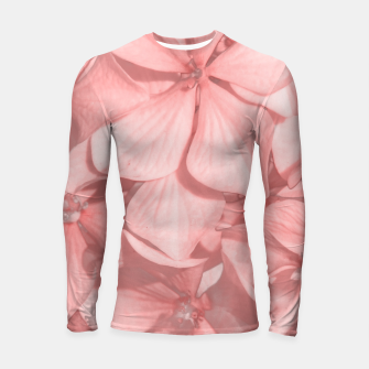 Thumbnail image of Coral Colored Hortensias Floral Photo Longsleeve rashguard , Live Heroes