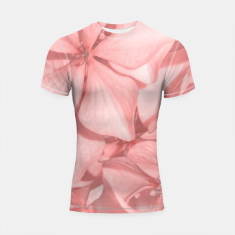 Thumbnail image of Coral Colored Hortensias Floral Photo Shortsleeve rashguard, Live Heroes