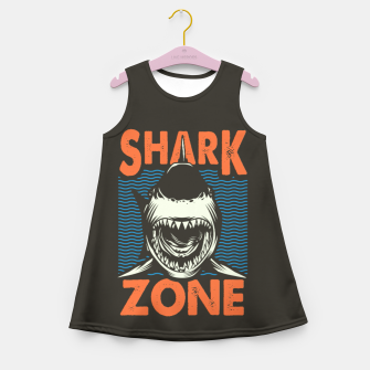Miniatur Beware !!!! Shark Zone  Girl's summer dress, Live Heroes