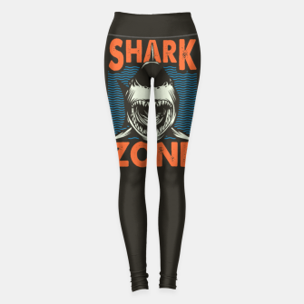 Miniatur Beware !!!! Shark Zone  Leggings, Live Heroes