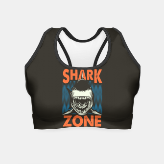 Miniatur Beware !!!! Shark Zone  Crop Top, Live Heroes