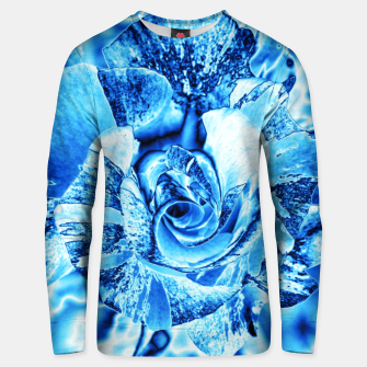 Thumbnail image of Blue Frozen Ice Rose Unisex sweater, Live Heroes