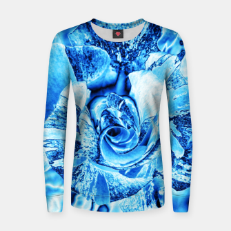 Thumbnail image of Blue Frozen Ice Rose Women sweater, Live Heroes