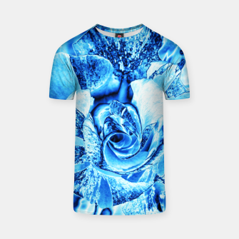 Thumbnail image of Blue Frozen Ice Rose T-shirt, Live Heroes