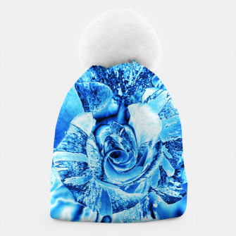 Thumbnail image of Blue Frozen Ice Rose Beanie, Live Heroes