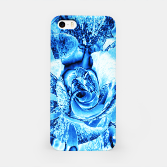 Thumbnail image of Blue Frozen Ice Rose iPhone Case, Live Heroes