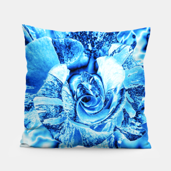 Imagen en miniatura de Blue Frozen Ice Rose Pillow, Live Heroes