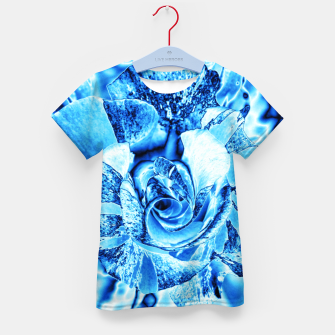 Thumbnail image of Blue Frozen Ice Rose Kid's t-shirt, Live Heroes