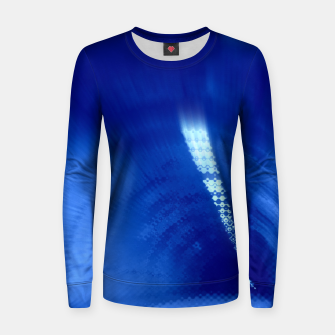 Miniatur Blue Wormhole in Space Women sweater, Live Heroes