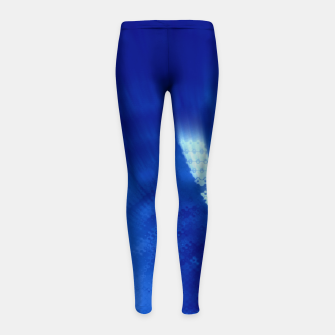 Miniatur Blue Wormhole in Space Girl's leggings, Live Heroes
