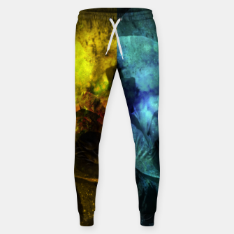 Miniatur Deux Roses - Yellow and Blue Sparkling Rose Sweatpants, Live Heroes