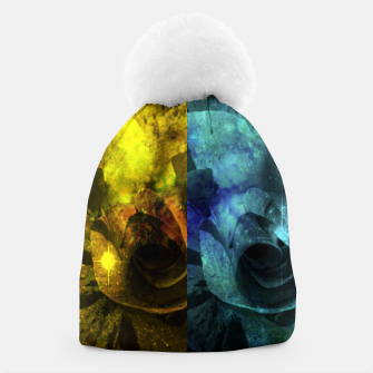 Miniatur Deux Roses - Yellow and Blue Sparkling Rose Beanie, Live Heroes