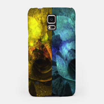 Miniatur Deux Roses - Yellow and Blue Sparkling Rose Samsung Case, Live Heroes