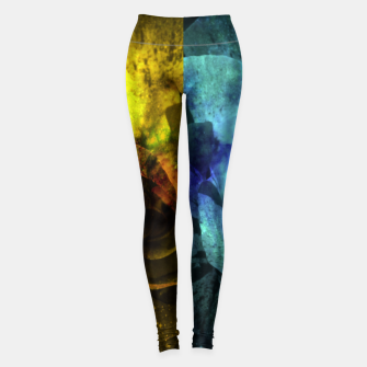 Miniatur Deux Roses - Yellow and Blue Sparkling Rose Leggings, Live Heroes