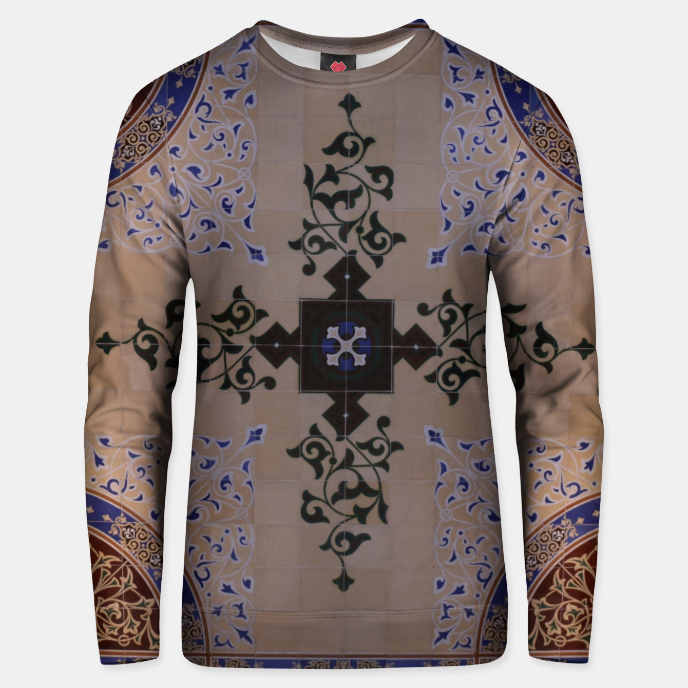 Image of Ornamental Tiled Ceiling Geometric Pattern Unisex sweater - Live Heroes