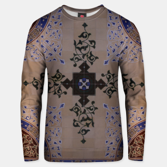 Thumbnail image of Ornamental Tiled Ceiling Geometric Pattern Unisex sweater, Live Heroes