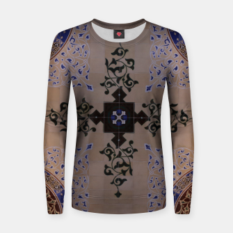 Miniatur Ornamental Tiled Ceiling Geometric Pattern Women sweater, Live Heroes