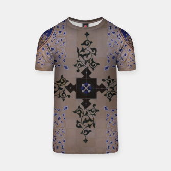 Ornamental Tiled Ceiling Geometric Pattern T-shirt thumbnail image