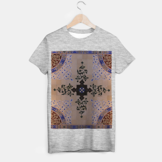 Ornamental Tiled Ceiling Geometric Pattern T-shirt regular thumbnail image