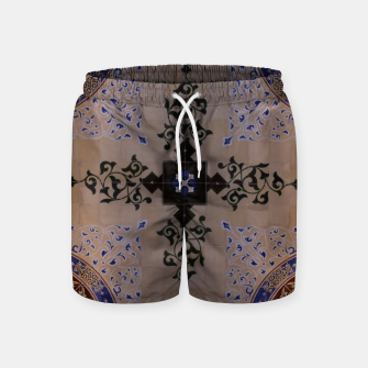 Ornamental Tiled Ceiling Geometric Pattern Swim Shorts thumbnail image