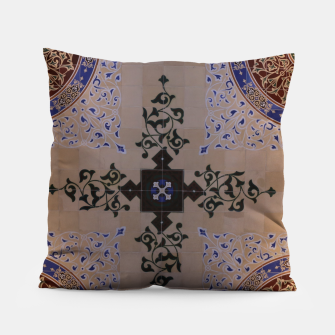 Ornamental Tiled Ceiling Geometric Pattern Pillow thumbnail image
