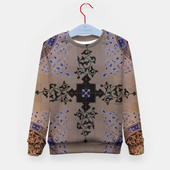 Ornamental Tiled Ceiling Geometric Pattern Kid's sweater thumbnail image