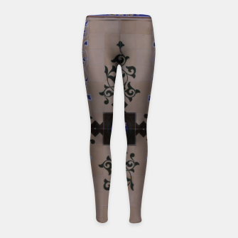 Ornamental Tiled Ceiling Geometric Pattern Girl's leggings thumbnail image